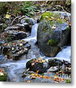 Whisketown Stream In Autumn Metal Print