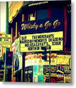 Whisky A Go Go Bar On Sunset Boulevard Metal Print