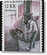 Whisky Postage Stamp Print Metal Print