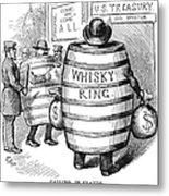 Whisky Ring Cartoon, 1875 Metal Print