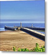 Whitby Harbour View Metal Print