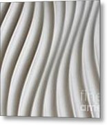 White Artistic Background Metal Print