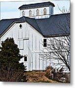 White Barn Metal Print