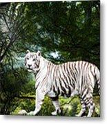 White Bengal Metal Print by Elizabeth Hart