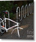 White Bicycle . 7d10119 Metal Print