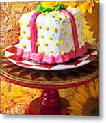 White Cake Metal Print