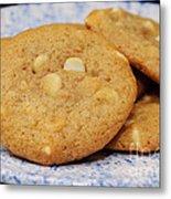 White Chocolate Chip Cookies Metal Print