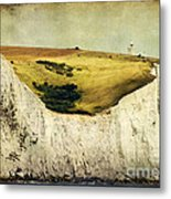White Cliffs Lighthouse Metal Print