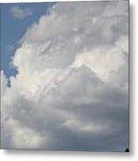 White Clouds Metal Print