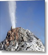White Dome Geyser Erupting, Upper Metal Print