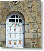 White Door Provence France Metal Print
