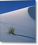 White Dunes In Gypsum Dune Field, White Metal Print