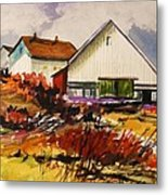 White Farm-spring Metal Print