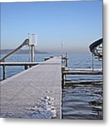 White Frost Slide Metal Print