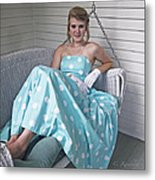 White Gloves And Pearls Metal Print by Cheri Randolph