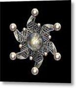 White Gold And Pearls Metal Print by Hakon Soreide