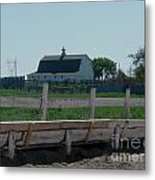 White Hiproof Barn  Metal Print