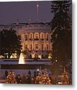 White House, From Elipse At Christmas Metal Print
