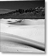 White In White Sands Metal Print