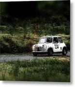 White Mini Innocenti Austin Morris Metal Print