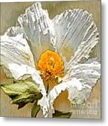 White Paper Flower Metal Print by Artist and Photographer Laura Wrede