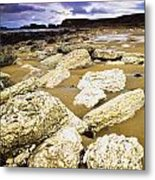 White Park Bay, County Antrim, Ireland Metal Print