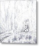 White Pieta Metal Print