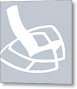 White Rocking Chair Metal Print by Naxart Studio