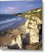 White Rocks Beach, Between Portrush & Metal Print