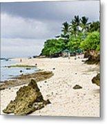 White Sand Beach Moal Boel Philippines Metal Print