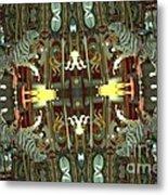 White Tiger Carousel 2 Metal Print