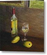 White Wine And Mangoes Metal Print
