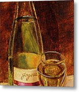 White Wine-joyous Metal Print