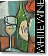 White Wine Poster Metal Print