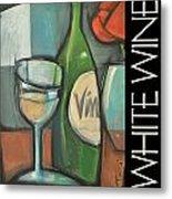 White Wine Poster Metal Print