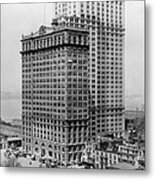 Whitehall Buildings At Battery Place Station In New York City - 1911 Metal Print