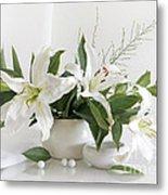 Whites Lilies Metal Print