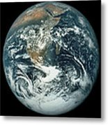 Whole Earth, Showing Antartica, Africa And Arabia Metal Print