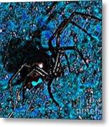 Wicked Widow - Blue Metal Print