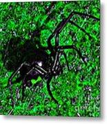 Wicked Widow - Green Metal Print