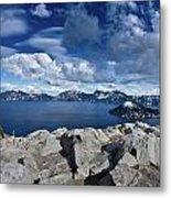 Wide View Of Crater Lake Metal Print