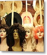 Wigs And Hats Metal Print