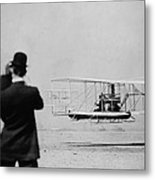Wilbur Wright 1867-1912 Takes Metal Print by Everett