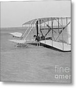 Wilbur Wright Crash Landing In Wright Metal Print