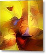 Wild About Saffron Metal Print