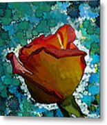 Wild And Crazy Rose Bud Metal Print