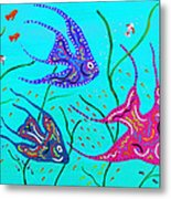 Wild Angelfish Metal Print