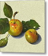 Wild Apples In Color Pencil Metal Print