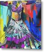 Wild Belly Dancer Metal Print