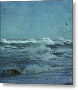 Wild Blue - High Surf - Outer Banks Metal Print